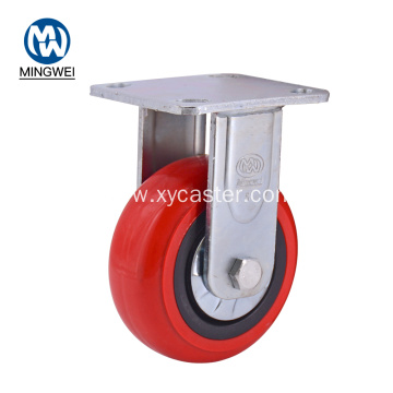 Heavy Duty Red 5 Inch Rigid pvc Caster